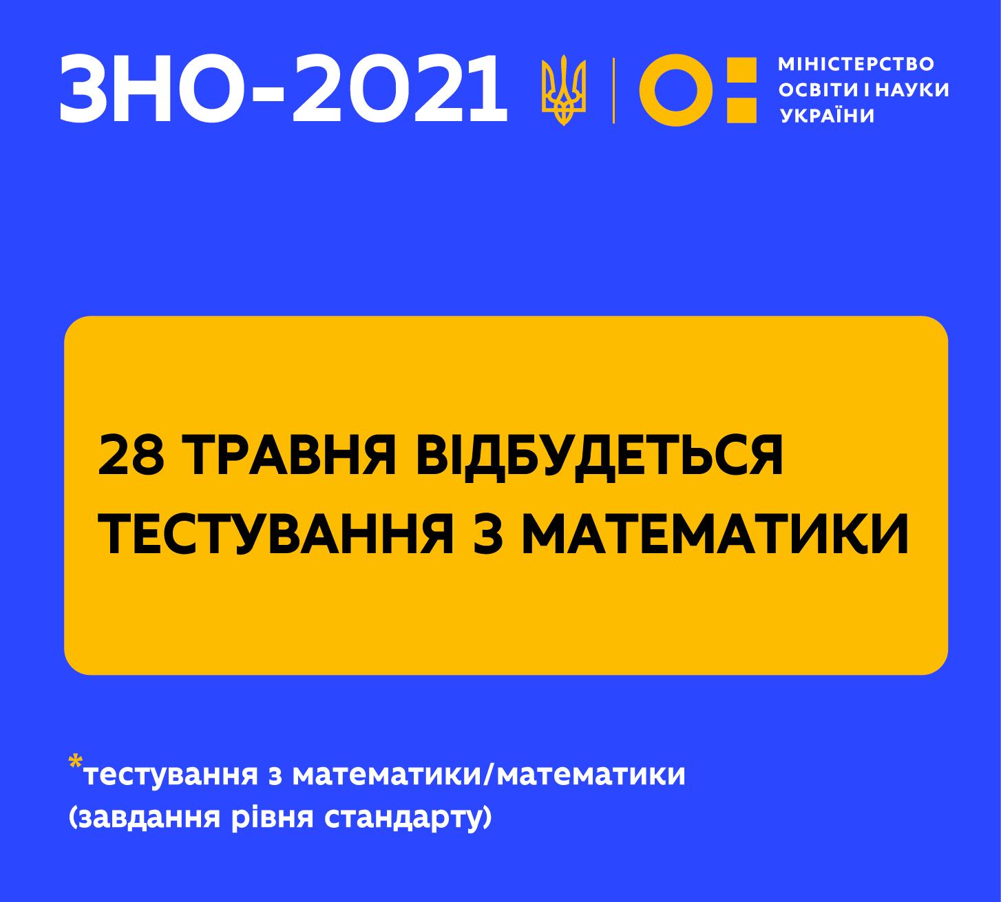 28 травня відбудеться ЗНО з математики